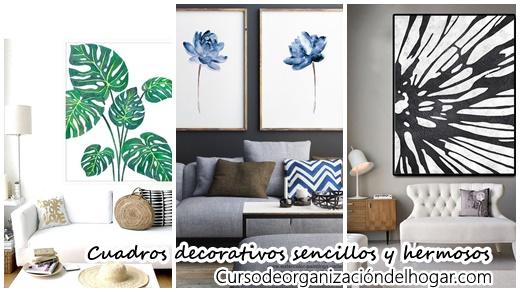 24 cuadros decorativos sencillos y hermosos que necesitan for Objetos decorativos minimalistas
