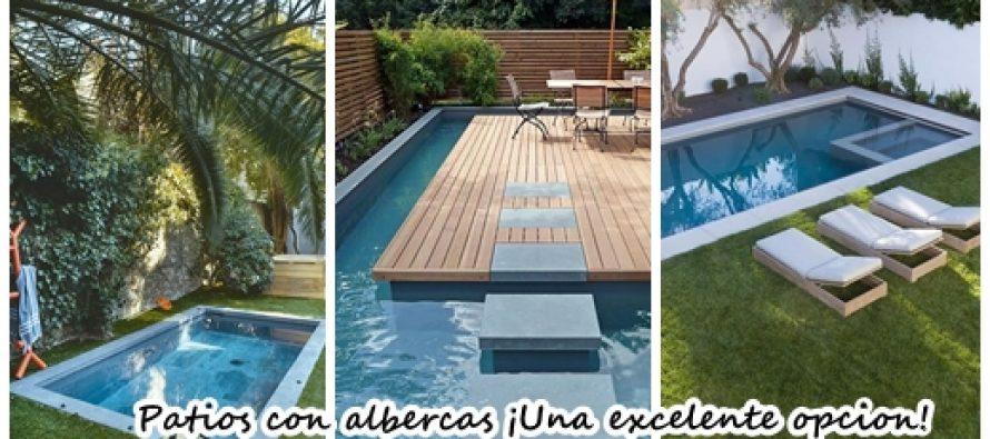 24 patios con albercas que vas a querer para tu casa for Albercas de patio