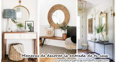 25 maneras de decorar la entrada de tu casa (¡y que se vea preciosa!)