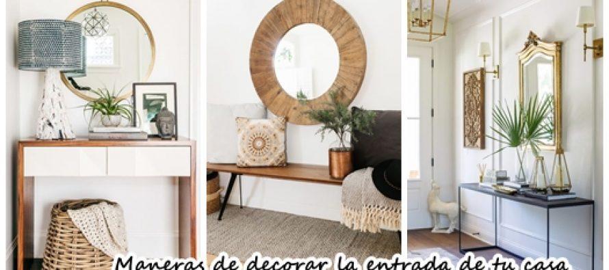 25 maneras de decorar la entrada de tu casa y que se vea - Decorar una entrada estrecha ...