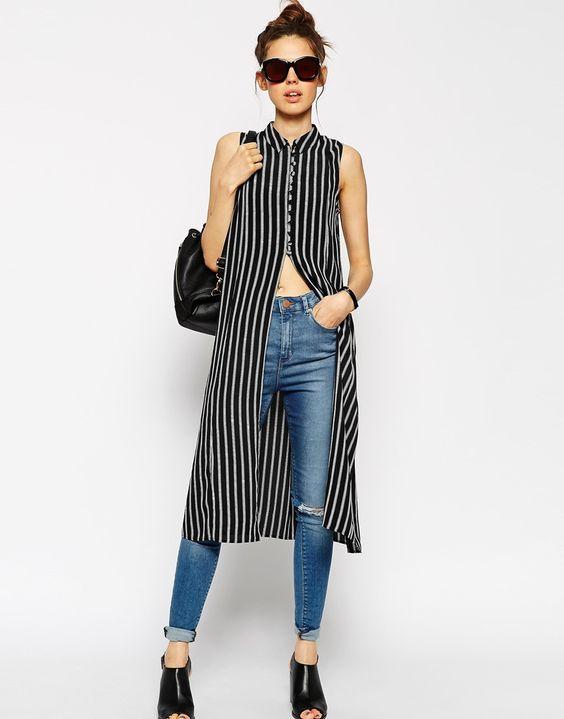 35a297f8bde53 25-outfits-para-copiar-con-blusones-largos (21) - Curso de ...