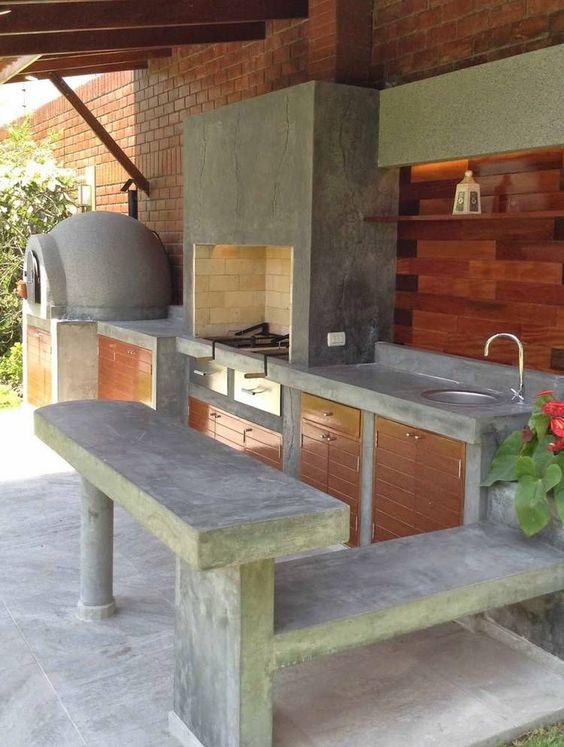 26 cocinas para tu patio faciles de hacer y se ven for Hogares a gas rusticos