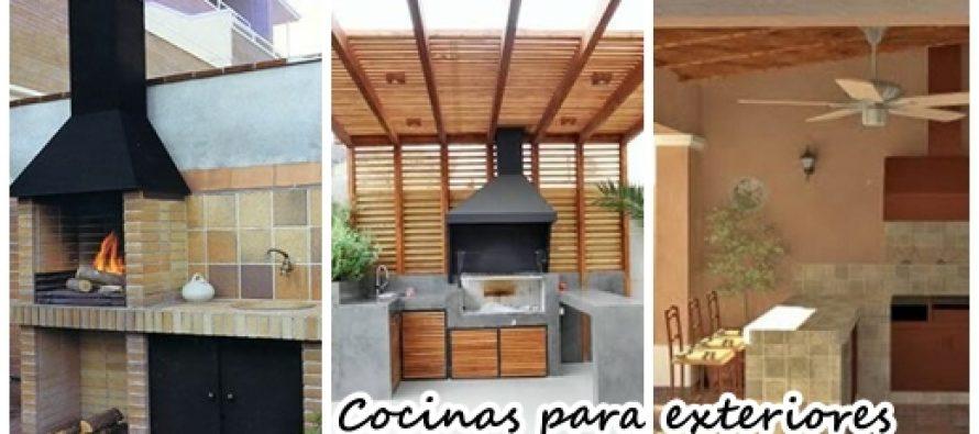 26 cocinas para tu patio f ciles de hacer y se ven for Cocinas para patios
