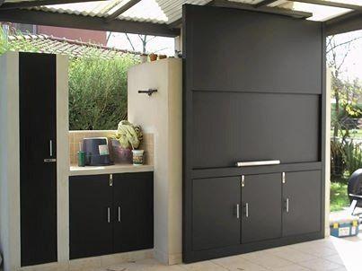26 cocinas para tu patio faciles de hacer y se ven for Puerta lavadero