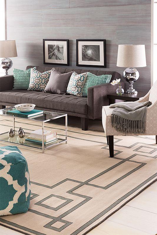26 disenos de alfombras para salas de estar 12 curso de organizacion del hogar - Alfombras para sala ...