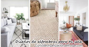 26 diseños de alfombras para salas de estar