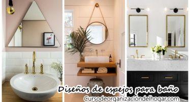 26 diseños de espejos para baños