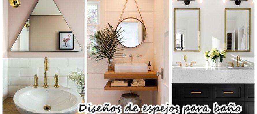 diseos de espejos para baos