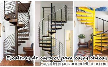 26 escaleras de caracol para casas pequeñas