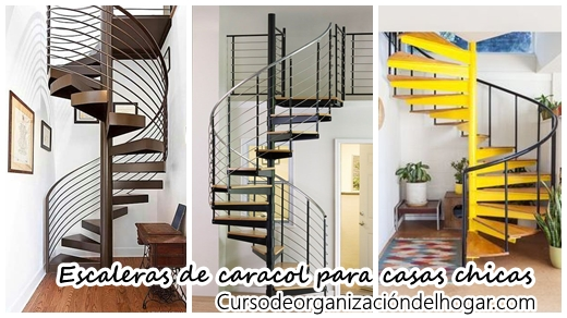 26 escaleras de caracol para casas pequeas Curso de Organizacion