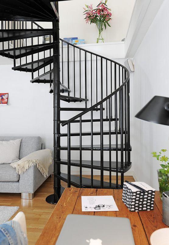 escaleras de caracol para casas pequeas with casas con escaleras de caracol