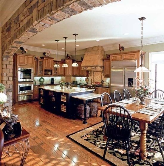 Kitchen Dining Room Floor Plans: 26-ideas-para-integrar-sala-comedor-y-cocina-juntos (18