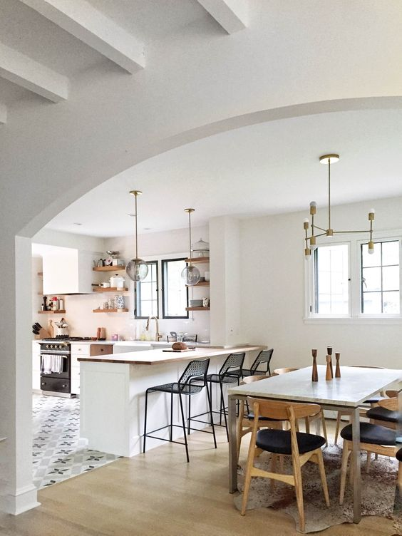 26 ideas para integrar sala comedor y cocina juntos 23 for Cocina y bano juntos