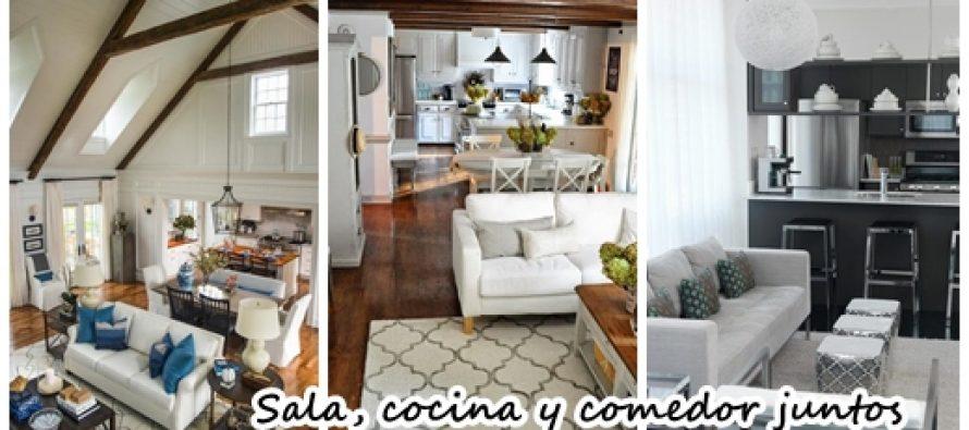 Sala comedor y cocina juntos ideas de salas con estilo c - Como decorar una cocina comedor ...