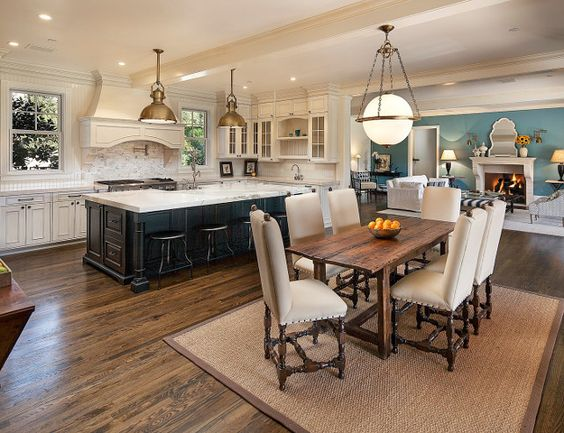 26 ideas para integrar sala comedor y cocina juntos 6 for Cocina y sala juntos