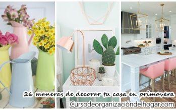26 maneras de decorar con color esta primavera