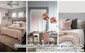 27 ideas de decoración de interiores gris con rosa