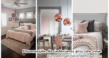 27 ideas de decoración de interiores gris con rosa