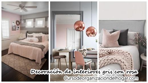 27 ideas de decoraci n de interiores gris con rosa curso for Interiores pintados de gris