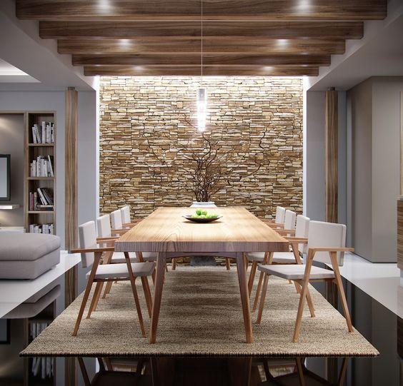 28-ideas-para-revestir-las-paredes-de-tu-comedor (17) - Curso de ...