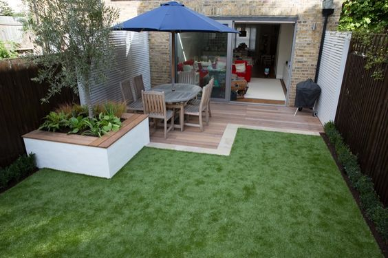 28 ideas que puedes poner en practica si tu patio es for Medium back garden designs