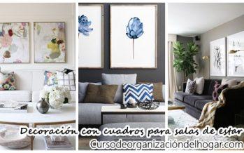 28  maneras modernas para decorar tu sala de estar con cuadros