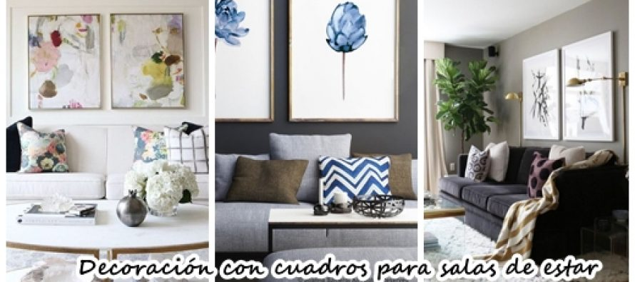 28 maneras modernas para decorar tu sala de estar con cuadros curso de organizacion del hogar for Cuadros para salas pequenas
