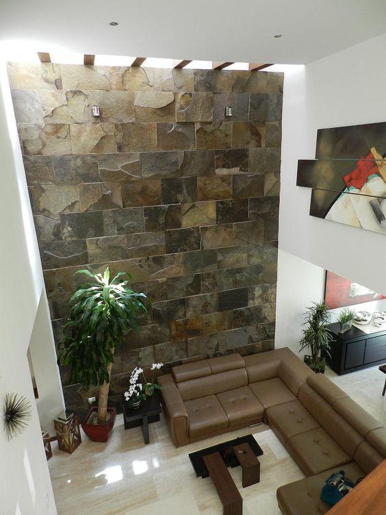 29 revestimientos de piedra para el interior de tu casa - Piedras pared interior ...