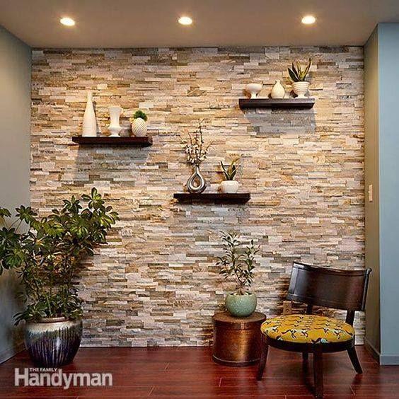 29 revestimientos de piedra para el interior de tu casa - Revestimiento de piedra interior ...