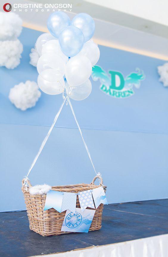 30 ideas para organizar y decorar un baby shower para nino - Adornos baby shower nino ...