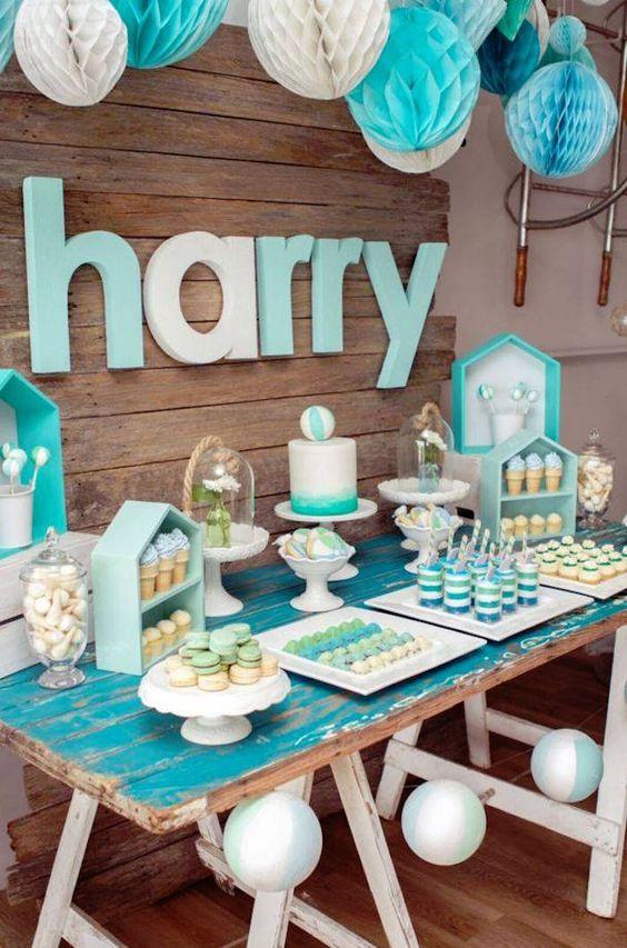 30 ideas para organizar y decorar un baby shower para nino - Ideas para baby shower de nino ...