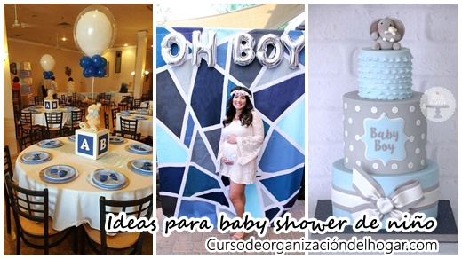 30 Ideas Para Organizar Y Decorar Un Baby Shower Para Niño   Curso De  Organizacion Del Hogar Y Decoracion De Interiores