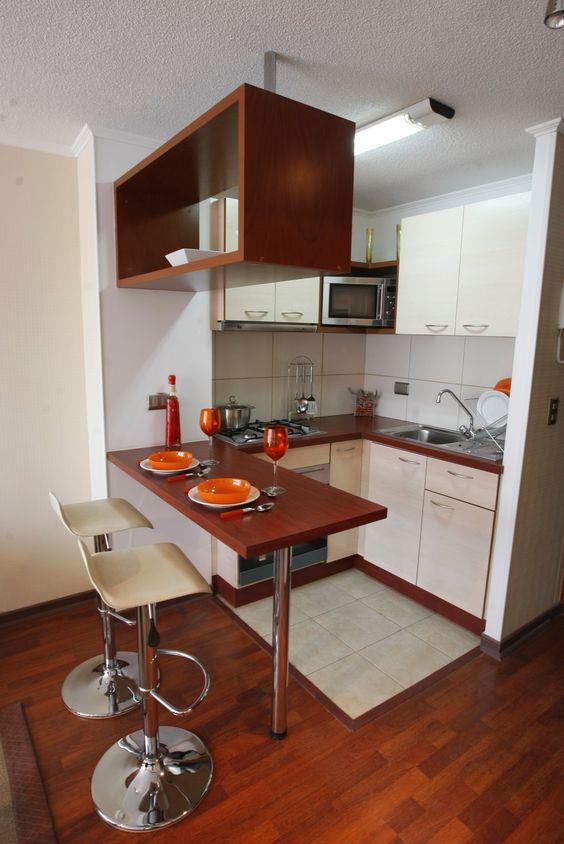 Decoracion de cocinas peque as for Aprovechar espacio cocina
