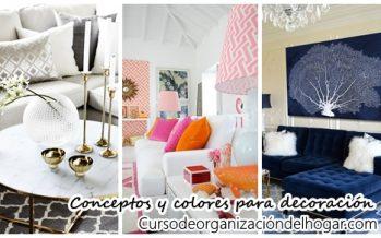 32 diferentes conceptos y colores para decorar el interior de tu casa