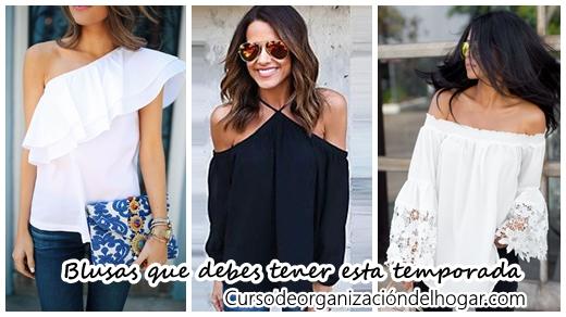 32 diseños de blusas que debes tener esta temporada - Curso de Organizacion  del hogar y Decoracion de Interiores e4ec940011b71