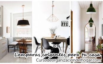 32 modelos de lamparas colgantes para decorar tu casa
