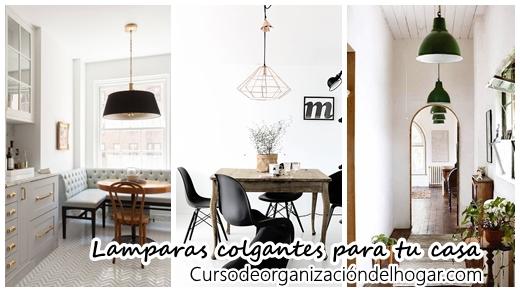 32 modelos de lamparas colgantes para decorar tu casa - Curso de ...