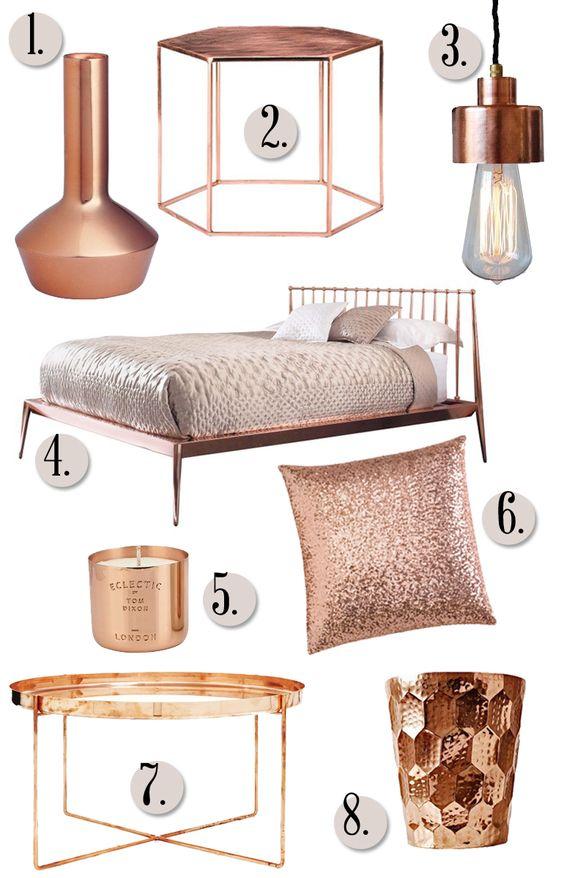 Accesorios color copper para decoracion de interiores 13 - Accesorios para decoracion de interiores ...