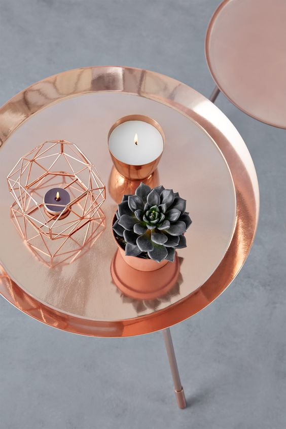 Accesorios color copper para decoracion de interiores 23 Accesorios para decorar interiores