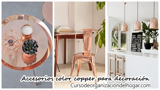 Accesorios color copper para decoraci n de interiores - Accesorios para decoracion de interiores ...