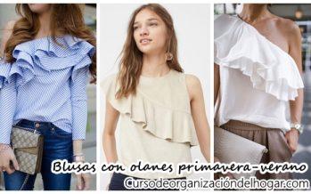 Blusas con olanes ¡Lo mejor para primavera-verano!