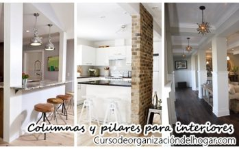 Columnas o pilares interiores para que tu casa se vea increible