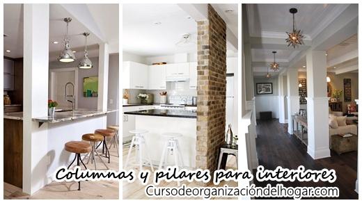 Columnas o pilares interiores para que tu casa se vea increible curso de organizacion del - Columnas decoracion interiores ...