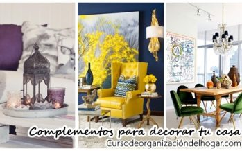 Complementos separados por colores ideales para decorar tu casa