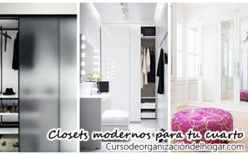 Diseños de closets que harán que tu cuarto se vea moderno