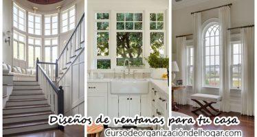 Diseños de ventanas que realzarán la fachada de tu casa
