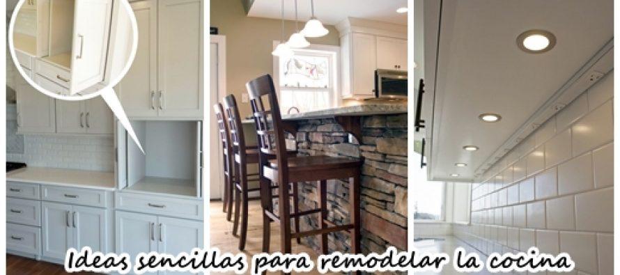 Ideas sencillas para remodelar tu cocina ya curso de for Ideas para remodelar la sala