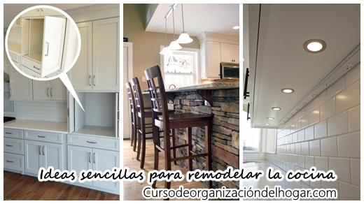 Ideas sencillas para remodelar tu cocina ya - Curso de Organizacion ...