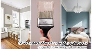 Increibles colores para tus paredes interiores
