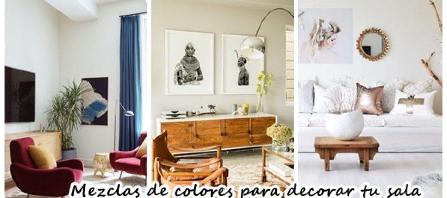 Mezcla de colores que puedes usar para decorar tu sala
